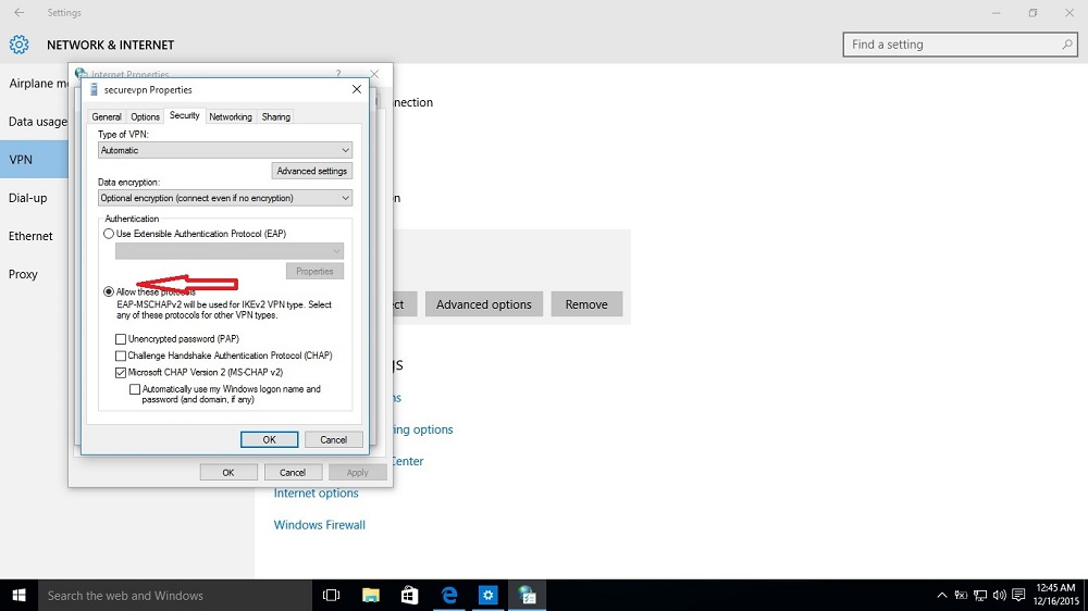 VPN Connection issue in Windows 10