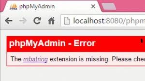 mbstring, phpmyadmin error