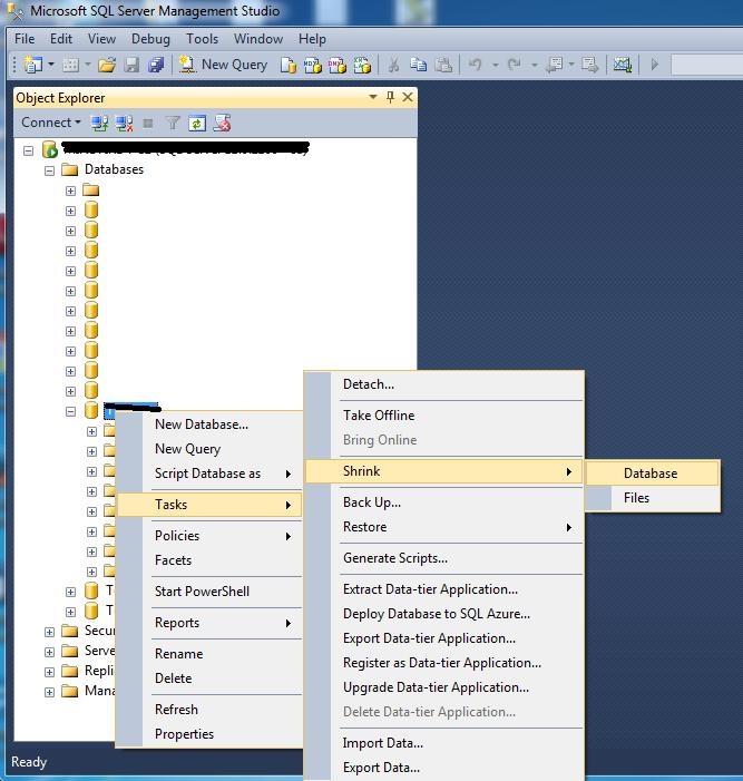 How to truncate a SQL Server Data file