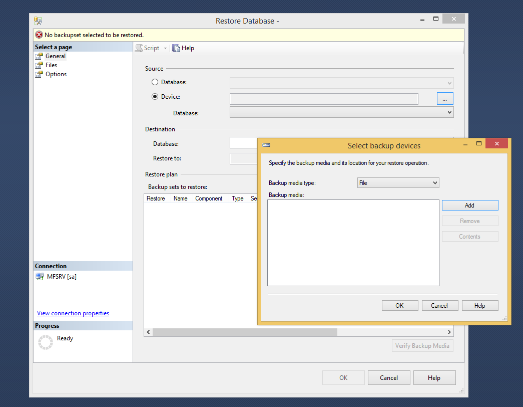 How to Restore Database using SQL Management Studio