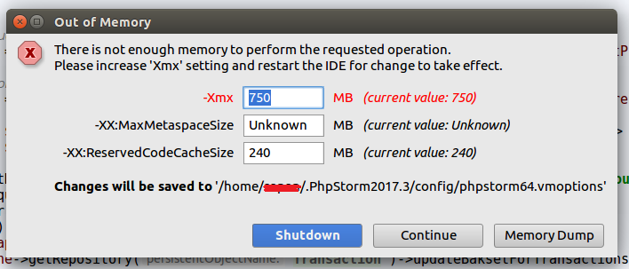 PhpStorm running out of memory while indexing project