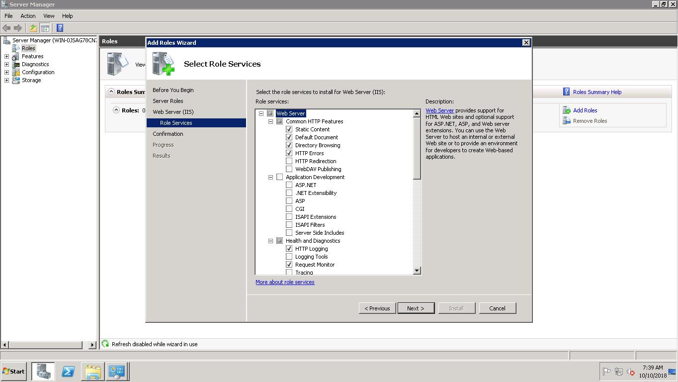 How to install IIS Web Server on Amazon EC2 Instance (Windows Server