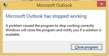 Microsoft outlook has stopped working - Life On Network