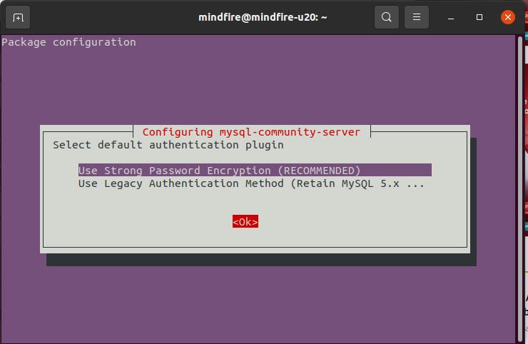 Step by Step screenshot to Install MySQL 8.0 on Ubuntu 20.04